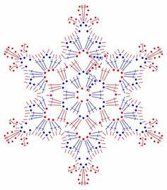 snowflakes crochet 124 schema More Crochet Diy, Thread Crochet, Crochet Motif, Crochet Crafts, Crochet Doilies, Crochet Flowers, Crochet Projects, Hexagon Crochet, Crochet Snowflake Pattern