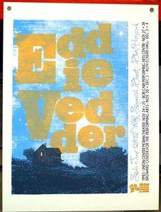 Eddie Vedder, concert poster