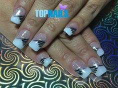 Uñas Acrílicas Francesas con Glitter y decorado 💅(Acrylic nails French with Glitter decorated) 💅 🌺Hazte Fans o Me Gusta 👍 en https://www.facebook.com/topnails.cl 🌸  🇨🇱www.topnails.cl ☎94243426,