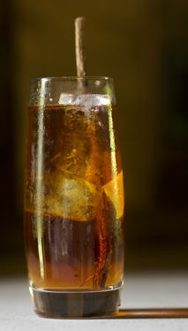 Whiskey Tea Highball - Smoky lapsang souchong tea lends a deep, Scotch-like edge in this simple southern highball.