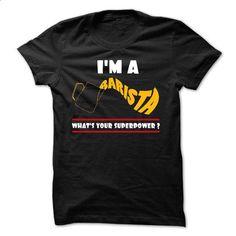 !! IM A BARISTA !! - design your own shirt #tshirt serigraphy #tshirt couple