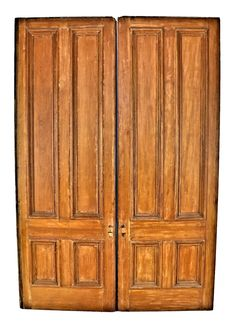 Matching Pair Of Refinished Original Salvaged Chicago White Pine Wood  1870u0027s Interior Cottage Pocket Doors With