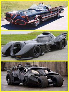 los autos de Batman