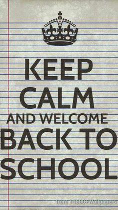 Keep Calm Adn Welcome Back To School   Poster Freebieu2026