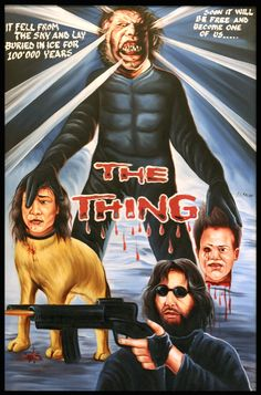 The Thing Ghana Film Poster All Horror Movies, Horror Films, Horror Movie Posters, Film Posters, The Thing John Carpenter, Ghana Art, Foreign Movies, Cinema, Alternative Movie Posters