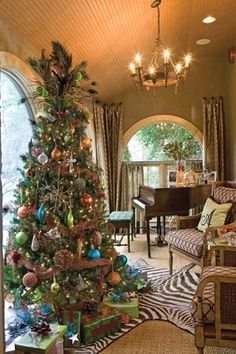 The Cottage Journal, Christmas piano room