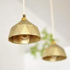 Lampe Futagami *matte metallic paint will transform cheaper pendants into a high end look*