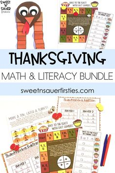 Having a bundle of Thanksgiving resources makes teaching during the fall holidays so much easier! Here I have included so many fun, interactive activities in my Thanksgiving Fun Bundle! Some of these activities include Thanksgiving math games, writing prompts, turkey hat craft, and MORE! This bundle of fall activities covers a wide range of academic and creative skills which are perfect for any elementary classroom!