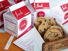 milk carton favor boxes? what a stinkin' cute idea!!