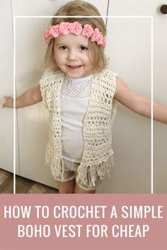 toddler crochet vest pattern, crochet vest with fringe pattern, boho toddler vest crochet pattern free, Coachella toddler crochet pattern, fringe vest pattern free