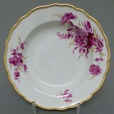 Meissen Teller,purpur Camaieu, Goldgräser,Goldwellenkante, D=23,5cm,1.Wahl, #1.2 | eBay