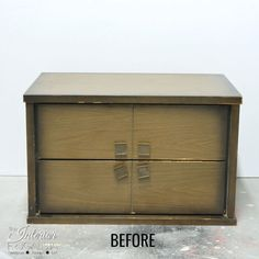 MCM Cabinet Before Without Legs