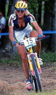 Giochi Olimpici di Atlanta 1996. Mountain Bike. Paola Pezzo (1969)