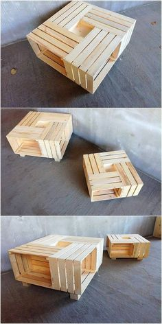 Fresh Ideas for Shipping Wooden Pallets Repurposing: Sometimes bringing the fresh ideas of the home furniture decoration would be adding something really inspiring and impressive taste. Pallet Furniture, Furniture Decor, Pine Dining Table, Wooden Pallets, Decoration, Reuse, Wood Projects, Home Improvement, Corner