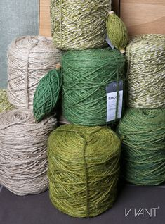 Flaxcord and Twisted flaxcord from Vivant Decorations in green, lime and natural colours. How To Make Rope, Cords, Twine, Basket, Packaging, Joy, Colours, Natural, Green