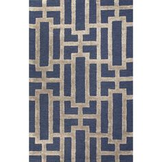 Jaipur Rugs City Deep Navy / Beige Geometric Area Rug | AllModern