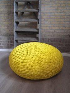 oker yellow pouf made by marutska