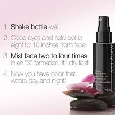 I love my Mary Kay Makeup Finishing Spray by Skindinävia®. Here are some tips on how to use it to give your look staying power to last for hours! http://www.marykay.ca/smcneely