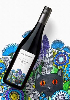 """"""" Unicorn Studio Moscow has created a series of bottle labels for the Austrian winery Weingut Heidenreich. Wine Packaging, Packaging Design, Branding Design, Product Packaging, Wine Bottle Art, Wine Bottle Labels, Beer Labels, Wine Bottles, Wine Label Design"""