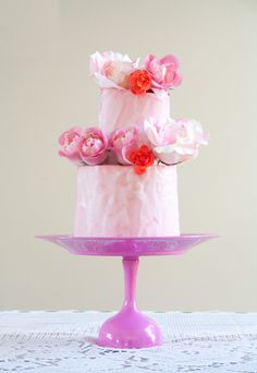 DIY Wedding Cake Stand For Under $5