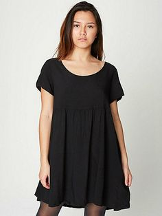 Rayon Babydoll Dress - this is pinned in dresses and separates because none of the AA dresses are usually long enough for me to wear as a dress.  made in the USA.
