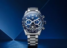 TAG Heuer - Carrera Calibre Heuer 02T COSC Blue | Time and Watches | The watch blog Sport Watches, Watches For Men, Favre Leuba, Tag Heuer Carrera Calibre, Apple Watch 1, Watch Blog, Hand Watch, Porsche Design, Mechanical Watch