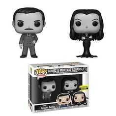 Show your love for The Addams Family with the POP! Addams Family Morticia and Gomez Black-and-White Vinyl Figures. Now we can all pretend to be as rich as the Addams family when we have Gomez and Morticia in our homes. Funk Pop, Pop Marvel, Dark Souls, Lego Harry Potter, Die Addams Family, Adams Family, Family Tv, Desenhos Tim Burton, Morticia And Gomez Addams