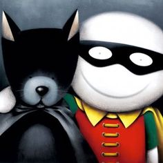 Catman and Robin from Doug Hyde available now from Evergreen Art Cafe