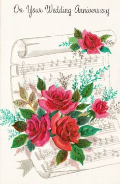 Get your hands on a customizable Sheet Music postcard from Zazzle. Find a large selection of sizes and shapes for your postcard needs! Happy Anniversary Wedding, Anniversary Greetings, Sheet Music Wedding, Wedding Art, Vintage Greeting Cards, Vintage Postcards, Collages, Christmas Templates, Vintage Pictures