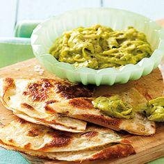 Taste Mag | Cheesy quesadillas with guacamole @ http://taste.co.za/recipes/cheesy-quesadillas-with-guacamole/