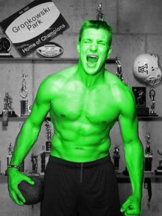 Don't make Gronk angry. You wouldn't want to see him angry.