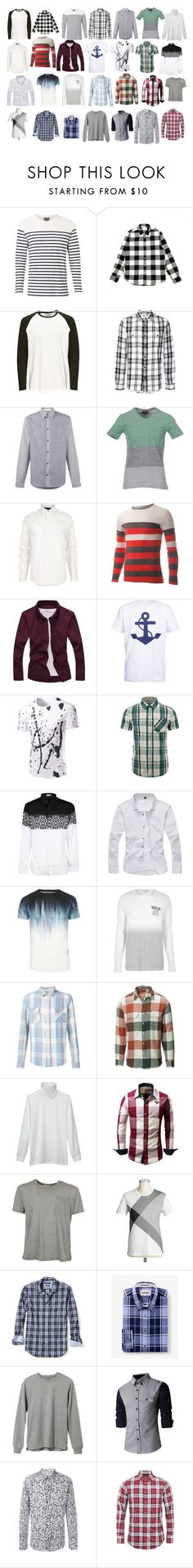 """""""Men's shirts"""" by asherthecrimsonfox ❤ liked on Polyvore featuring Witchery, Edwin, J.W. Anderson, Emporio Armani, River Island, Makia, Dior Homme, Levi's, Matix and Uniqlo"""
