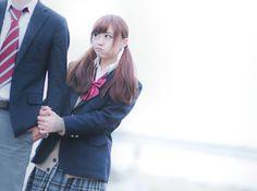 河村 友歌 Antara, School Uniform, Blazer, Navy, Cool Stuff, Cute, Jackets, Beauty, Japanese