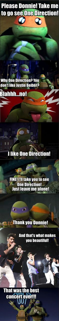 Mikey likes One Direction!