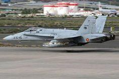 Spanish F-18 very low pass