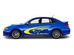 SUBARU Impreza WRX Sti Car Vinyl Stickers Side Door Banner JDM