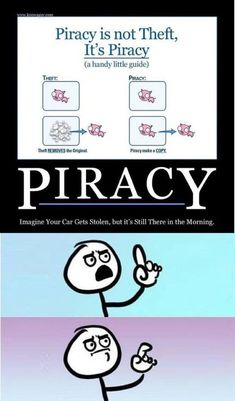 Funny Memes – [Piracy is NOT theft. It's piracy. Really Funny Memes, Stupid Funny Memes, Funny Relatable Memes, Funny Texts, Hilarious, Funny Stuff, Random Stuff, Funny Things, Hilarious Memes