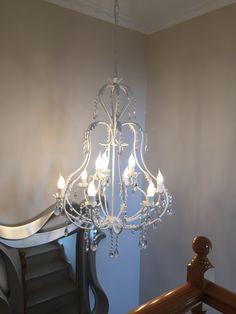 Nuestra clienta Vanessa Meseguer nos manda las fotos de la lampara L-Luba/9 ya instalada en su escalera. #MeGustaJoalpa
