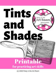 Teaching color theory to kids can be a fun challenge. Here's a quick tutorial for mixing tints and shades to show value with paint. Don't forget to download the freebie printable for teachers. This mini-lesson for kids is perfect for getting color theory started with your students. - Free Color Theory Printable (Teach Tints