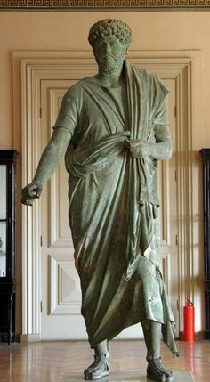 Emperor Hadrian - Bronze statue  2nd century CE, from Adana, Istanbul Archaeological Museum