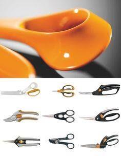 """""""Ergonomically designed scissors-handle-facing form & ergonomics study development. Anna Perella designs"""