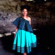 fashionable New Xhosa Traditional Dresses Designs - Spiffy Fashion The Most Promising Spaghetti Stra Xhosa Attire, African Attire, African Wear, African Women, African Dress, South African Traditional Dresses, Traditional Dresses Designs, Traditional Outfits, African Fashion Designers