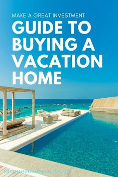 Buying a vacation home can be a wonderful experience if you follow these guidelines to make a great investment & avoid common mistakes made. #realestate #vacationhomes #homebuyers Real Estate Sales, Real Estate Marketing, Real Estate Articles, Home Selling Tips, First Time Home Buyers, Yoga Retreat, Best Investments, Vacation Destinations, Vacation Travel