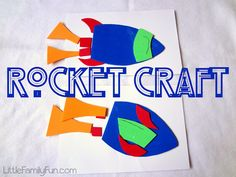 """Craft to go with the book """"Little Rocket's Special Star"""""""