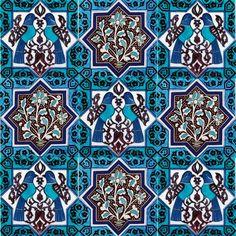 İznik Çinisi Karo - Anikya Mimari Turkish Tiles, Turkish Art, Islamic Tiles, Islamic Art, Tile Patterns, Textures Patterns, Arabesque, Turkish Design, Iranian Art