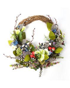 HB0HH MacKenzie-Childs Berries & Blossoms Wreath