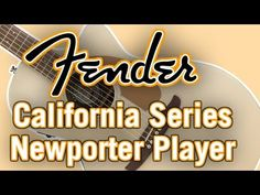 Another new acoustic guitar from Fender's 2018 California Series, the Newporter Player. Fender Acoustic Guitar, Company Logo, California, Youtube, Youtubers, Youtube Movies