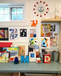 It's that time! Back to school, back to routine, back to work and a tidy studio! Back To Work, Back To School, Modern Art, Routine, Gallery Wall, Studio, Frame, Home Decor, Picture Frame