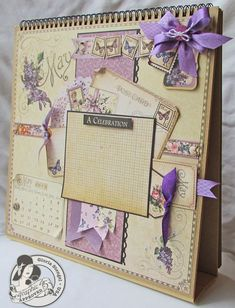 The beautiful May page from @Gloria Stengel of our Place in Time Calendar Tutorial Series. Stunning work! #graphic45 #tutorials