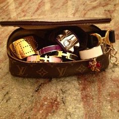 Treasure chest of Hermes accessories ~  dream!  dream!  dream!  <3  <3 <3